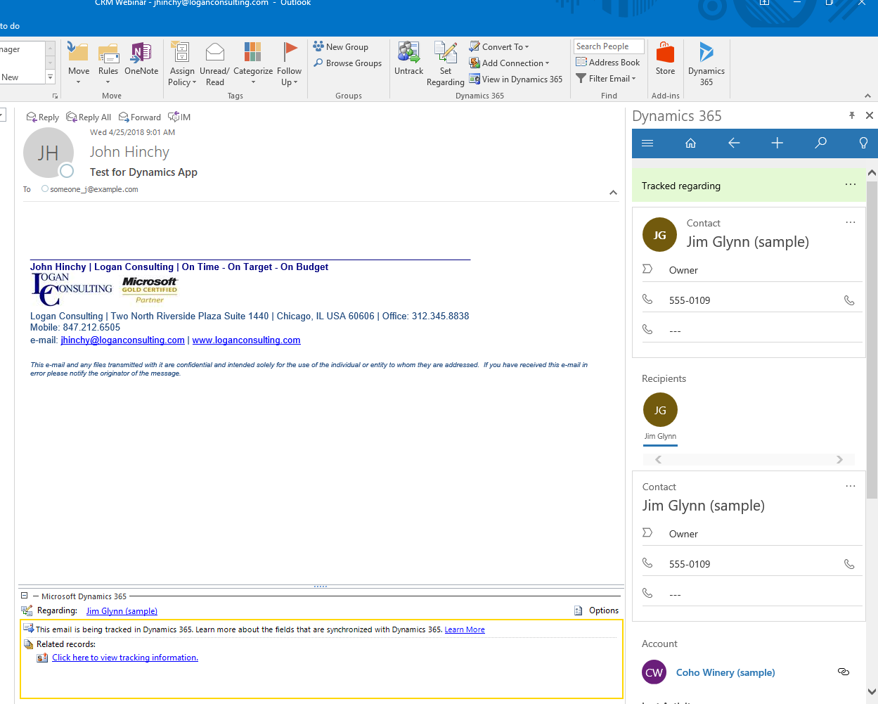 The Dynamics App for Outlook is Out of Preview Mode - Logan