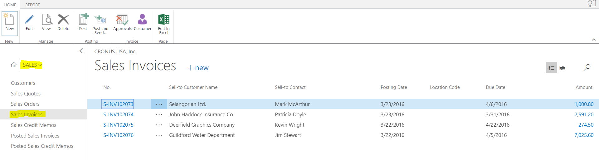 Microsoft Dynamics 365 for Financials – Create Sales Invoice