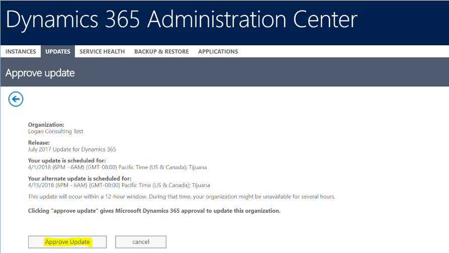 Schedule Your Microsoft Dynamics 9 0 (July 2017 Update) Now