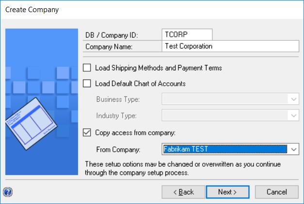 Microsoft Dynamics GP - How to Create a Test Company - Logan