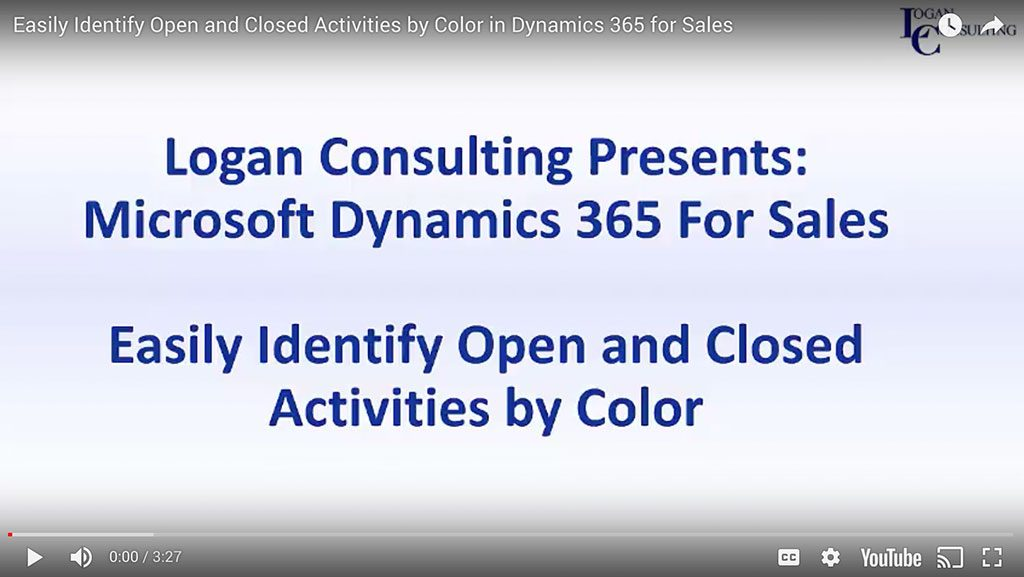 Easily Identify Open and Closed Activities by Color in Dynamics 365 for Sales