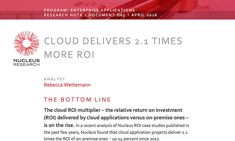 How to Double your ROI with Cloud Solutions