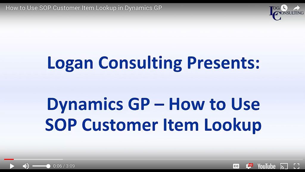 How to Use SOP Customer Item Lookup in Dynamics GP