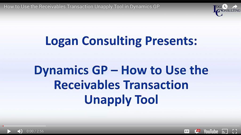 How to Use the Receivables Transaction Unapply Tool in Dynamics GP