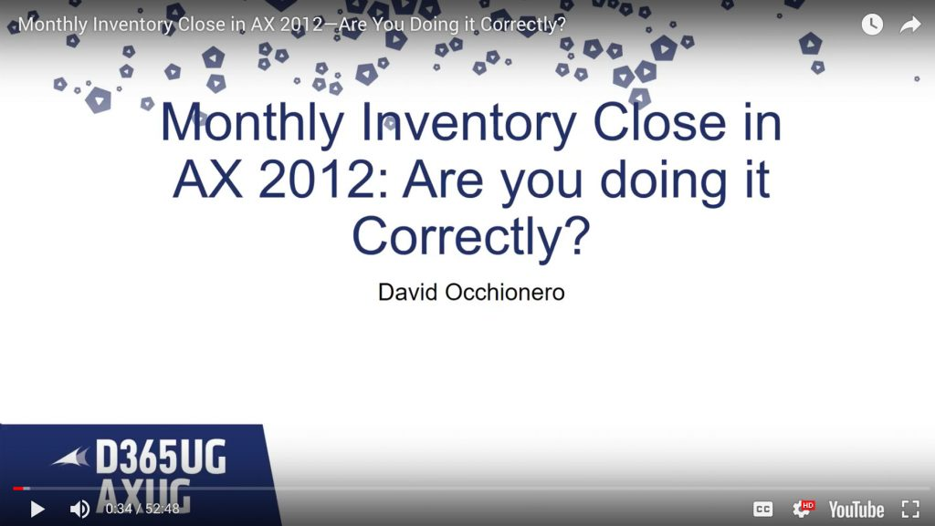 Monthly Inventory Close in AX 2012—Are You Doing it Correctly?