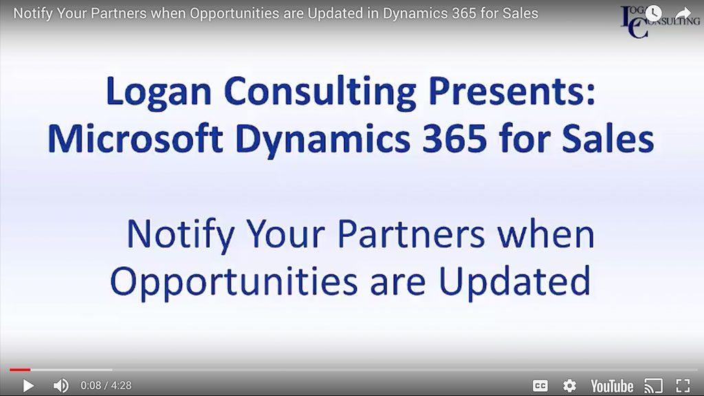 Notify Your Partners when Opportunities are Updated in Dynamics 365 for Sales