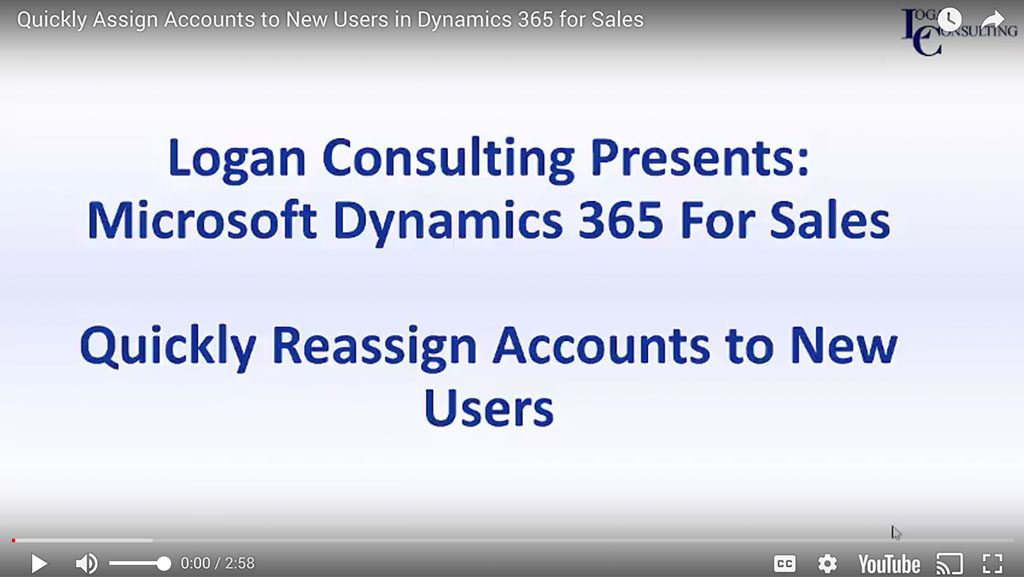 Quickly Assign Accounts to New Users in Dynamics 365 for Sales