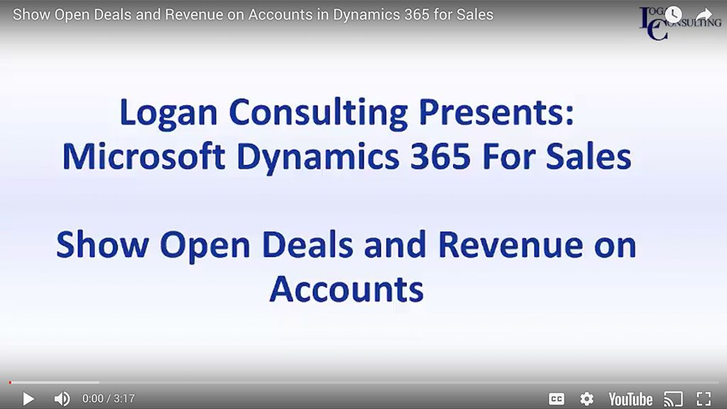 Show Open Deals and Revenue on Accounts in Dynamics 365 for Sales