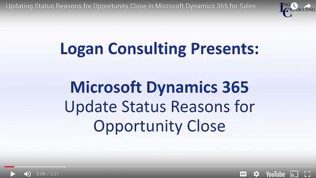 Updating Status Reasons for Opportunity Close in Microsoft Dynamics 365 for Sales
