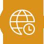 icon globe clock