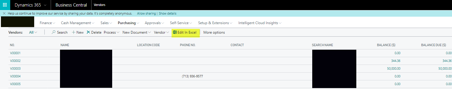 Quickly Upload Vendor Data in Business Central with Excel