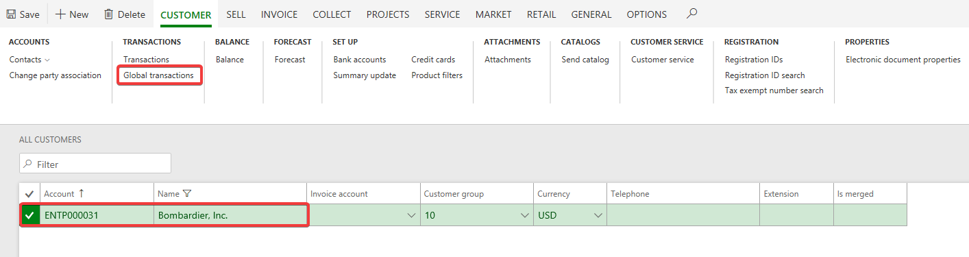 Utilizing Global Transactions in Dynamics 365 for Finance