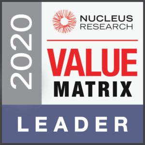 2020 Nucleus Research Value Matrix Leader