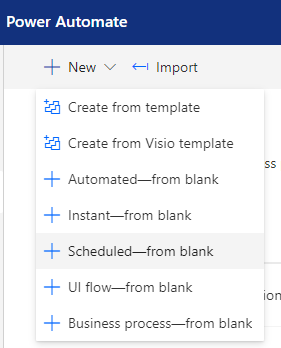 scheduled workflow power automate flows microsoft dynamics crm