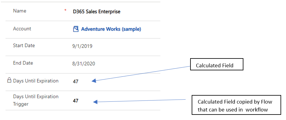 calculated fields power automate flows microsoft dynamics crm