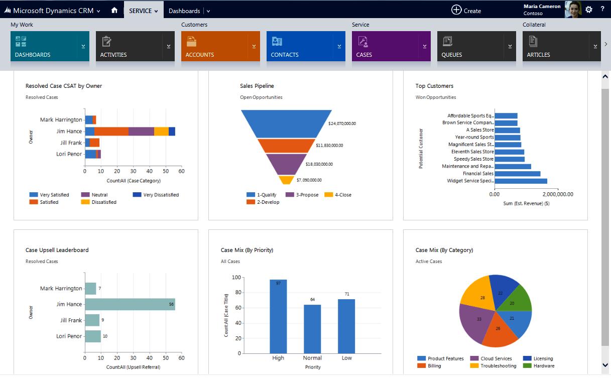 Microsoft CRM Sales Dashboard