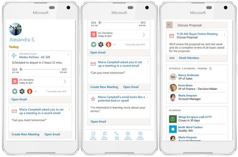 Microsoft CRM Mobile and Tablet Application